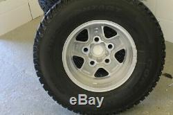Nouveau Décollage Ensemble De 5 Roues En Alliage De Boost Land Rover Defender + Pneus 235/85 16