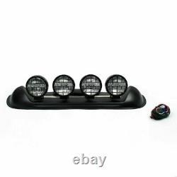 Quatre Blanc Objectif 4x4 off Road Toit Lampe De Brouillard H3 Ampoules Bar Suv # 601 Art