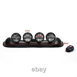 Quatre Lentilles Blanches 4x4 Off Road Roof Top Fog Lampe H3 Ampoules Light Bar Suv #601 B2