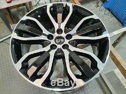 Range Rover Sport Véritable 21inch 5007 Noir / Diamant En Alliage Turned Roues Et Pneus