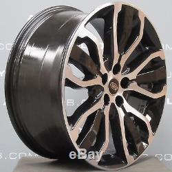 Range Rover Sport Véritable L494 21 Pouces 5007 Noir / Diamant Turned Jantes En Alliage X4