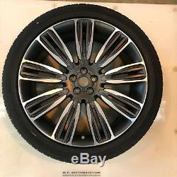Range Rover Véritable Velar 22 Style 9007 En Alliage Diamant Turned Roues Et Pneus