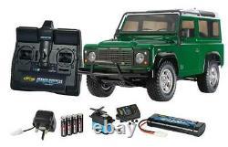 Télécommande Tamiya 1/10 Land Rover Defender 90 4x4 Kit Avec Contrôleur Da1626