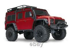 Traxxas Trx-4 Land Rover Defender Red + 5000 Mah Lipo Battery+id-lader Traxxas