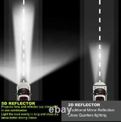 Treuil Toit Pare-chocs Droite Light Bar Led 52 '' + 22 Spot Flood Off Road 4x4