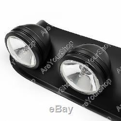 Universal Hors Route Style 4x4 Toit Rond Blanc Brouillard Lampe + Commutateur Kit # 2988