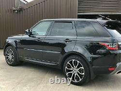 Véritable Range Rover Sport L494 21inch 5007 Noir /diamant Tourné Alliage Roues X4