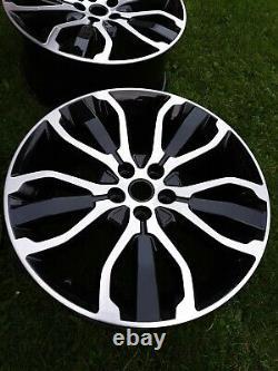 Véritable Range Rover Sport L494 21inch 5007 Noir/diamant Tourné Alliage Roues X4
