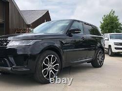 Véritable Range Rover Vogue L405 21inch 5007 Noir /diamant Tourné Alliage Roues X4